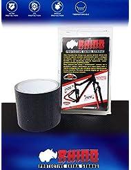 Quattroerre Rotolo Nastro Adesivo Rhino Roll per Protezione Telaio Bicicletta Unisex Adulto, Nero, 8 x 300 cm