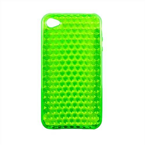 Flexible Silikon-Schutzhülle Bumper für Apple iPhone 4/4G/4GS hohe Qualität Stilvolle Made von E-port24® Diamond Smaragd Grün