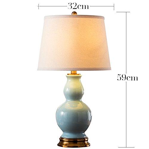 Rame americano Lampada da tavolo in ceramica da letto comodino Soggiorno Ceramic Table Lamp creativa moderna zucca Lampada da tavolo ( colore : Interruttore a pulsante