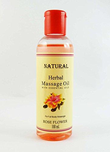 Huile de massage Rose Fleur de fines herbes à l'huile essentielle Pour 100ml Full Body