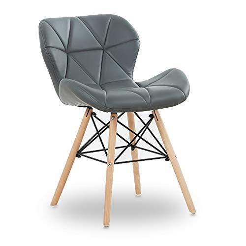 P & N Homewares® Cecilia Eiffel millmead inspiriert Stuhl aus Kunststoff Retro Weiß Schwarz Grau Rot Esszimmerstuhl Büro Stuhl Lounge grau - Rote Moderne Lounge-stühle