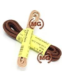 MG Lavorazione artigianale pelle e cuoio Lacci tondi in cotone per scarpe  calzature stringhe facilmente adattabili 1e863b873a2