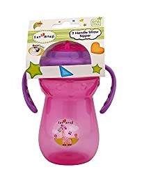 1st Step 2 Handle Sipper with Straw (Pink_St-1160 Pk)