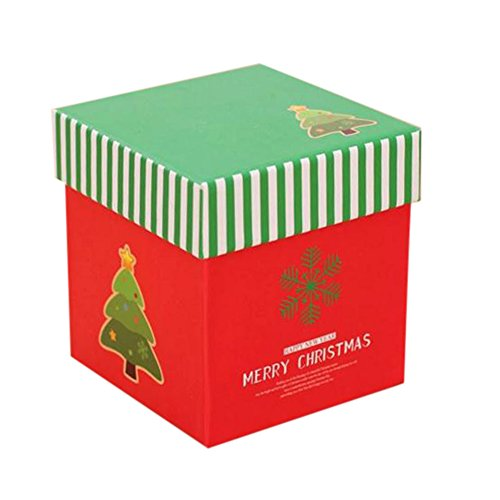 (Amphia Geschenk Schmuckbeute - Xmas Weihnachts-GeschenkKartons Heiligabend Apple Box Candy Boxes Party Boxen(Größe(About):10 * 10 * 10cm/Gewicht(About):80))