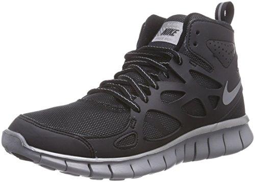 Nike  Nike Free Run, Chaussures de course pour compétition garçon Argent-Noir