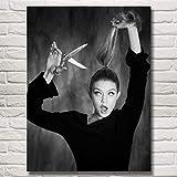 baodanla Kein Rahmen Gigi Hadid Mädchen Modell Kunst Seide Poste und Drucke ng Wohnkultur Wandbilder Für Wohnzimmer 50x70 cm