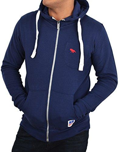 Herren Sweatjacke Kapuzenjacke Zipper Hoodie Sweatshirt Pullover 4 Farben Gr S , M , L , XL Zip Hoodie (S, Dunkelblau ( Dark Blue))
