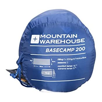 10447c2cd5be Mountain Warehouse Basecamp 200 Sleeping Bag - Easy Care All Season ...