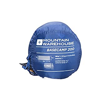 Mountain Warehouse Basecamp 200 Sleeping Bag - 2 Season Kids Camping Bag, Extreme Temperature Of 5C 5
