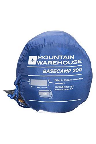 Mountain Warehouse Basecamp 200 Sleeping Bag - 2 Season Kids Camping Bag, Extreme Temperature Of 5C 1
