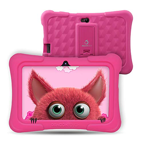 Dragon Touch Tablet para Niños con WiFi Bluetooth 7 Pulgadas 1024x600 Tablet Infantil de Android 9.0 Quad Core 2GB 16GB Doble Cámara Kid-Proof Funda Tablet Niños Educativo Y88X Pro Rosa
