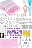 Fondant Tools Cake Decorating Supplies - 116pc Baking kit, Icing Piping Bags, Tips
