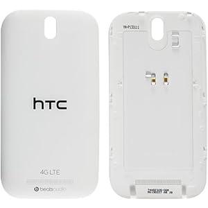 Original HTC Akkudeckel für das HTC One SV - white / weiß (Akkufachdeckel, Batterieabdeckung, Rückseite, Back-Cover) - 74H02328-06M