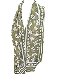 Large Soft Fashionable Fragmented Tortured Angry Skulls & crown Ladies Scarf, Shawl, Wrap, Sarong - By Fat-catz-copy-catz