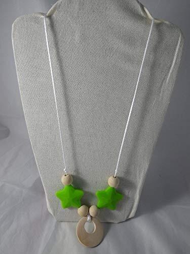 Collier de portage/allaitement étoiles vertes