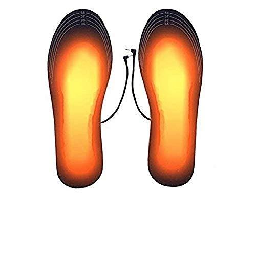 ZYYIN Wiederaufladbare, beheizte Einlegesohle, USB Warming In Winter-Heizkissen-Fußwärmer, wiederaufladbare, beheizbare, schneidbare Einlegesohle (L, 2 Paar)