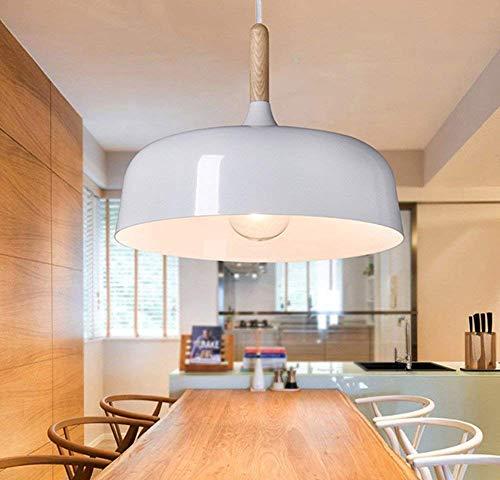 Industriel Vintage Suspensions Luminaire Lampe - Aluminium Ø 320mm Luminaire Suspendu-en E27 Pour Cuisine/Salle à Manger/Restaurant