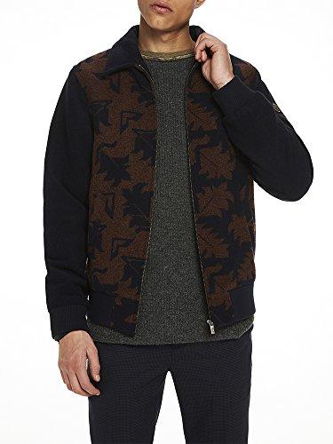 Scotch & Soda Herren Jacquard Wool Jacket Jacke, Mehrfarbig (Combo A 0217), X-Large -