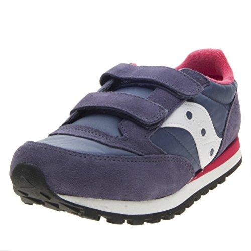 SAUCONY SC57160 JAZZ DBLE HL blu viola rosa scarpe bambina girls strappo 32