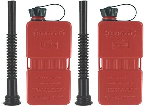 FuelFriend®-Plus - Tanica da 1.5 Litri + Tubo Flessibile - 2 Pezzi per Un Prezzo Speciale