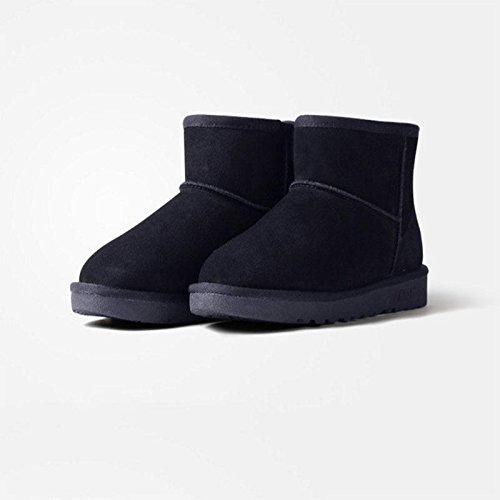 Inverno caldo stivali da neve Stivaletti più spessi per il tempo libero Scarpe da trekking all'aperto , brown , 40 BLACK-39