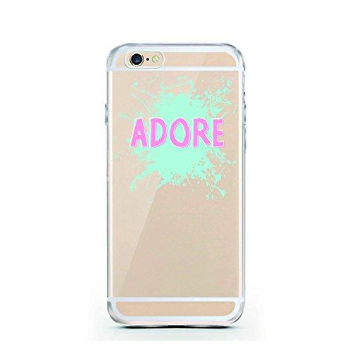 iPhone 6S Hülle von licaso® für das Apple iPhone 6 & 6S aus TPU Silikon Small Hearts Rose Love Liebe Herzchen Rosa Muster ultra-dünn schützt Dein iPhone & ist stylisch Schutzhülle Bumper Geschenk (iPh Adore