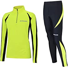 be06124e7773b5 Airtracks Winter Funktions Laufset für Damen oder Herren - Thermo Laufhose  Lang Pro + Thermo Laufshirt