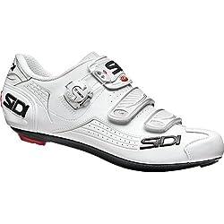 Sidi Alba Road - Zapatillas de ciclismo, color blanco y blanco, 39 EUR [24.5cm]