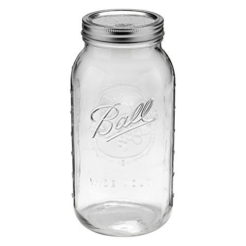 1ball Mason Wide Mouth Canning Jars Half Gallon 64oz 2 Quart by Canning Jar 2 Qt Canning Jar