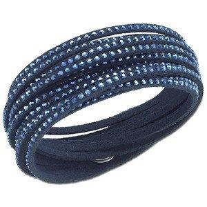 Milano Leder-armband (Emma Gioielli - Damen Leder Armreif Armband Wickelarmband mit Kristallen SWAROVSKI ELEMENTS - Schmucketui (Blau))