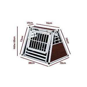 cage N°17 de transport pour chien aluminium