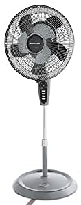 Bionaire Standing Floor Fan with Remote Control, Height Adjustable, Grey Finish [BASF1016]