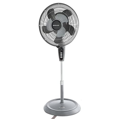 41tzNdCAs3L. SS500  - Bionaire Standing Floor Fan with Remote Control, Height Adjustable, Grey Finish [BASF1016]