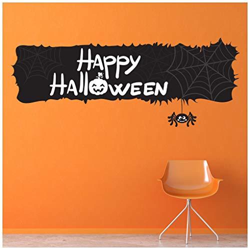 azutura Fröhliches Halloween Schwarzer Kürbis Banner Wandtattoo Erhältlich in 8 Größen Riesig Digital