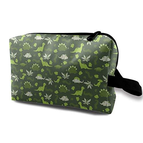 Green Dinosaur World Travel Storage Bag Cosmetic Bag Beauty Case Buggy Bag -