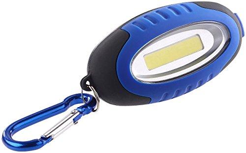Lunartec Mini Lampe: Mini-Taschenlampe mit COB-LED und Karabiner-Haken, 0,5 W, 35 lm, IPX4 (Schlüsselanhänger mit Licht)