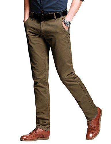 Match Herren Slim Casual Hose #8025 8025 Dunkel khaki