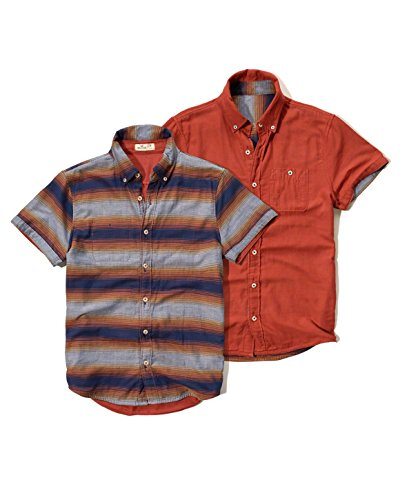 hollister-homme-reversible-poplin-shirt-chemise-casual-courte-taille-large-bleu-a-rayures-623186307