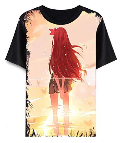 Shimakaze Kostüm - Cosstars Anime Kantai Collection T-Shirt Cosplay Kostüm Sommer Kurzarm Tee Top Shirts Schwarz 5 XS