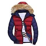 DressLksnf Giacca Calda Invernale Uomo Felpe Caldo Cappotto con Cuciture Casual Cappotti in Cotone con Cappuccio Felpa Giacche Sportive e Tecniche Abbigliamento Taglie Forti