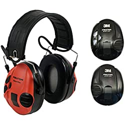 3m Peltor SportTac Casque Anti-Bruit Rouge et Noir