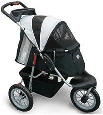 InnoPet® Hundebuggy Comfort EFA Hundewagen Hunde buggy Buggie Hundetransportwagen black/silver bis 30kg