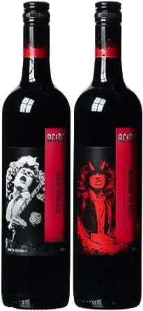 """Warburn Estates AC/DC Geschenkpaket Rotwein """"Highway to Hell"""" und """"Back in Black""""  trocken (2 x 0.75 l)"""