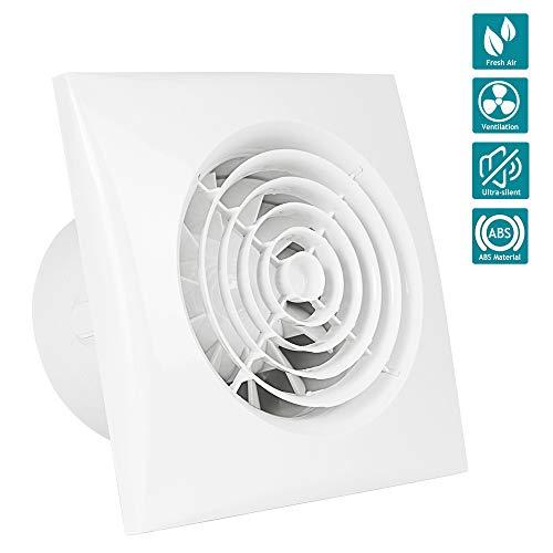 HG Power Inline-Lüfter, 4 Zoll Abluftventilator Ultra-leise mit Effiziente Belüftung, Wand-Ventilator für Küche/Badezimmer/Schlafzimmer/Büro (X) - Mehrweg -