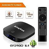 Android 8.1 TV Box 2018 Kingbox K2 Pro Boîtier TV 2GB RAM+16GB ROM avec Quad-Core CPU 64 Bits Smart TV Box Supporte 2.4G WiFi/BT4.0/Android 8.1 etc Boitier Tv