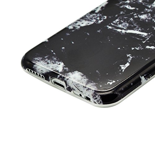 Coque iPhone 8 Rigide en Mat givré en caoutchouc,Sunroyal Soft Coque Imprimer Cristal pour iPhone 8 Slim Coque Housse Etui Silicone TPU Étui Housse Souple Antichoc Protecteur Cover Case Marbre Désign  Motif 37