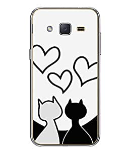 Fuson Designer Back Case Cover for Samsung Galaxy J1 (2015) :: Samsung Galaxy J1 4G (2015) :: Samsung Galaxy J1 4G Duos :: Samsung Galaxy J1 J100F J100Fn J100H J100H/Dd J100H/Ds J100M J100Mu (Couples Love Partners Soul Mate Boy Girl)