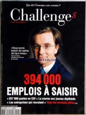 CHALLENGES [No 105] du 03/01/2008 - AVANT-PREMIERES - CONFIDENTIEL AFFAIRE