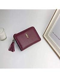26832c890 nanih Home Otoño Nuevo Mini Bolso Mujer con Cremallera para Damas versión  Coreana de la Linda Cartera (Color…