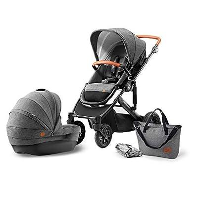 KK Kinderkraft Prime 2 en 1 Cochecito para cochecito de bebé, color gris